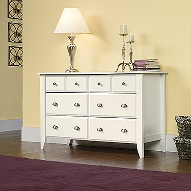 Sauder Shoal Creek  Dresser, Soft White Finish by Sauder