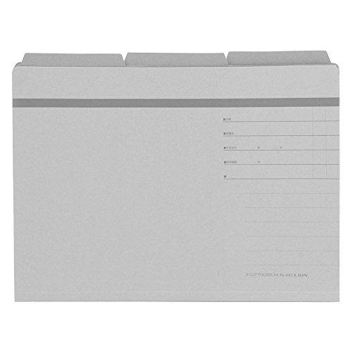 사자 사무 동 3 컷 폴더 A4 30 권의 No.443-30P-H 재 / Lion Office Equipment 3 Cut Folder A4 30 Books No.443-30P-H Ash