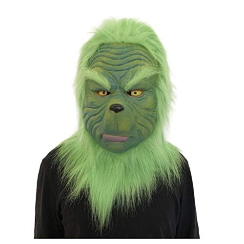 Kids Scary Ventriloquist Costumes - callm Mask Toy,Cosplay for Grinch Funny