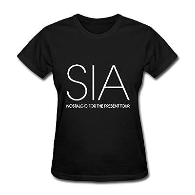 Hot Sia Nostalgic For The Present Tour 2016 Tee Shirt For Women
