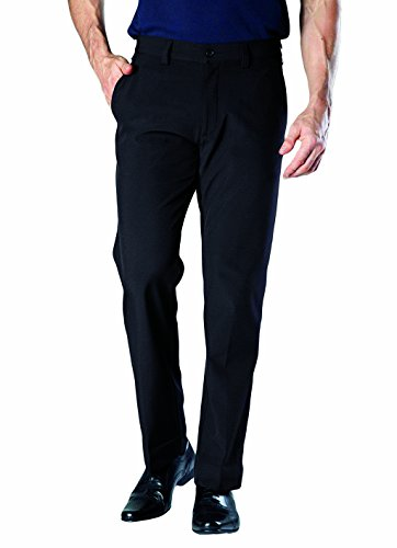 HEAT HOLDERS - Mens Winter Warm Fleece Lined Insulated Thermal Trousers/Pants (L31 W34, Black)