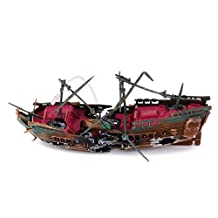 Wreck Sailing Boat Vessel Aquarium Fish Tank Air-operated Decoration