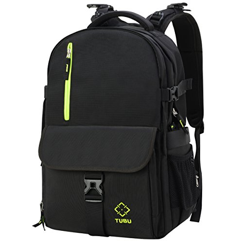 DSLR Camera Backpack with Laptop Side Quick Access and Waterproof by TUBU