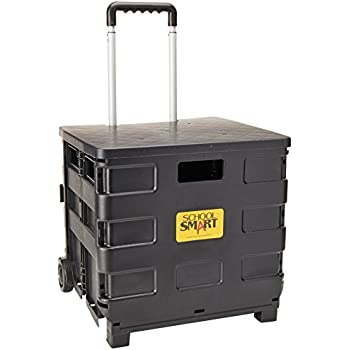 Amazon com : Office Depot Mobile Folding Cart with Lid, 16in