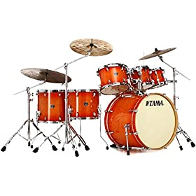 Tama Superstar Classic 7-Piece Shell Pack - Tangerine Lacquer Burst 2
