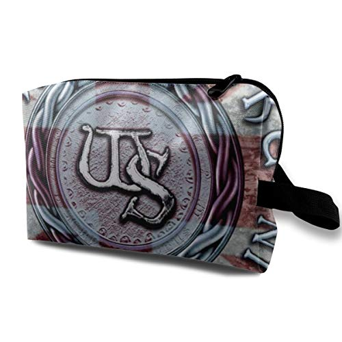 (JacobKThompson Whitesnake Portable Travel Cosmetic Bag Storage Bag Purse Travel Bag Handbag)