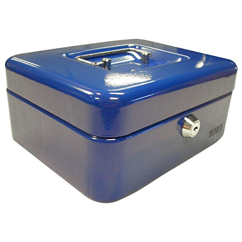 TEXET 8-inch Steel Cash Box – Blue