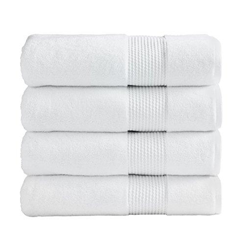 Ice White Super Absorbent Luxury Hotel & Spa Bath Towel 100% Genuine Turkish Combed Cotton, 27