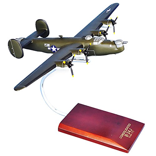 Mastercraft Collection Consolidated B-24J Liberator (Olive) World War II Bomber Military Airplane Plane Aircraft Model Scale:1/72