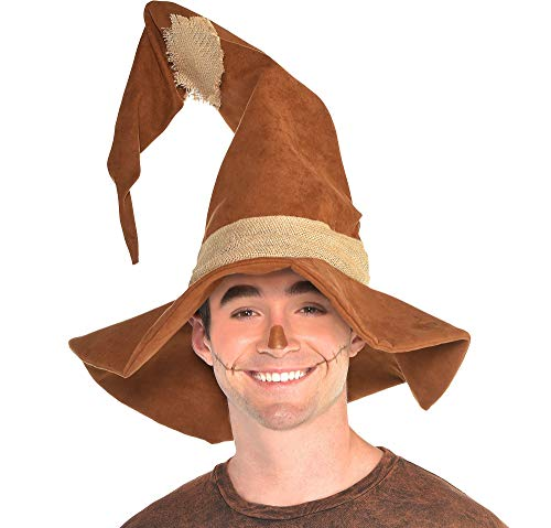 amscan Scarecrow Hat Halloween Costume Accessories for Adults, One Size -