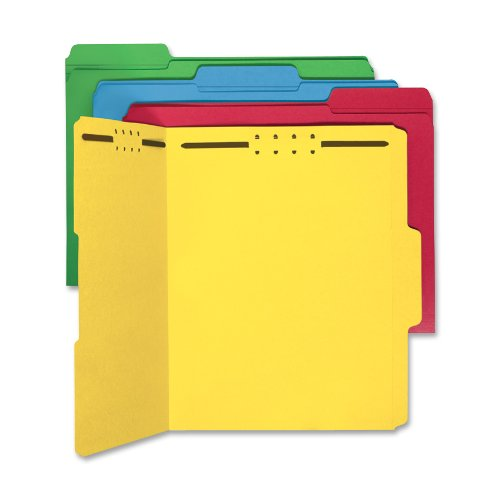 0.33 Assorted Tab (Sparco Fastener Folders, Letter, 1/3 Inches Cut, 50 per Box, Assorted (SPRSP17571) )