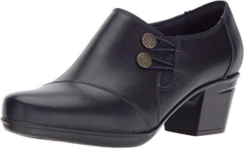 Clarks Women's Emslie Warren Slip-on Loafer,Navy Leather,7.5 M US (Loafers Women Navy)