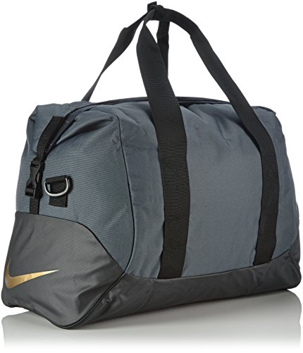 Nike Herren Tasche Football Shield Standard Duffel, Dark Magnet Grey/Black/Volt, 49.5 x 30 x 25 cm, BA4692-087