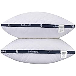 HOMEIDEAS Bed Pillows for Sleeping - Alternative Pillows, Super Soft Plush Fiber Fill, 3D Shape Never Go Flat, Relief Neck Pain (2 Pack Queen Size)