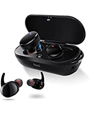 meilun Wireless Earphones, NB7 Bluetooth 5.0 3D Stereo Sound True Wireless Headphones with Charging Box Built-in Mic and Noise Cancelling Stereo for iPhone and Android.