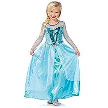 Little Girls' Disney Frozen Elsa Isnpired Ice Queen Costume Dress up - Medium (8-10)
