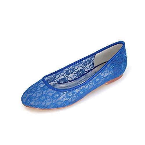 Dentelle chaussures amp; Chaussures Blue yc Mariage Yards Automne Été couleur Grands Soirée printemps Femmes Plates Pour L De Multi YPSqxHw