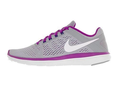 NIKE Women's Flex 2016 RN Athletic Shoe, Wolf Grey/White-Hyper Violet-Concord, 12 B US
