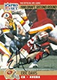 Eric Davis autographed Football Card (San Francisco 49ers) 1990 Pro Set #722