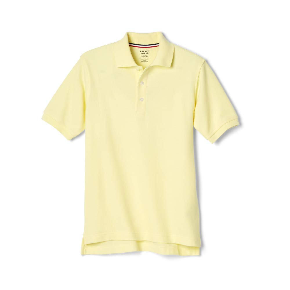 French Toast Big Boys' Short Sleeve Pique Polo, Yellow, 8