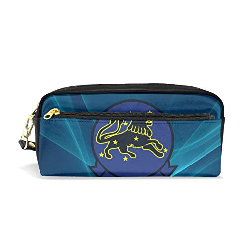 Pencil Case US Navy VF-213 Black Lions Squadron Gift Students Canvas Pen Bag Pouch Stationary Case Makeup Cosmetic Bag ()