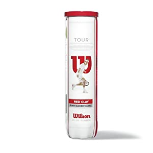 Wilson Tennisball Tour Red Clay 4er Pack, Gelb, 1, WRT110800