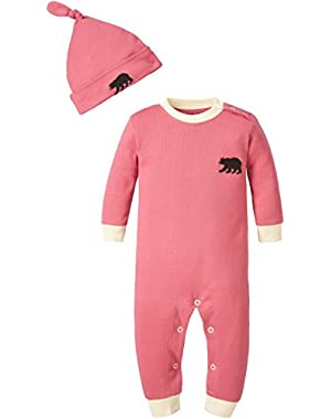 Little Blue House By Hatley Unisex Baby Coverall and Hat