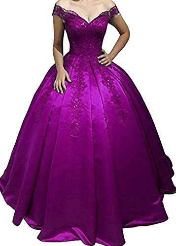 The Sweet Prom BessDress Gown Lace Pink Hot Off 2018 Shoulder Dresses 16 BD441 Ball ZgHwHnSx