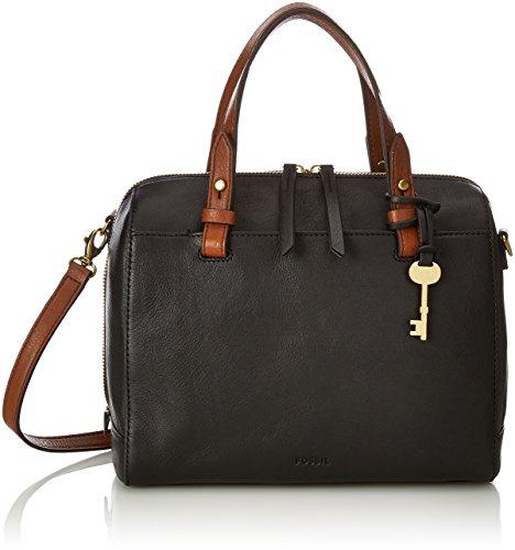 Nero Borse Tasche Damen a Black Fossil Satchel Rachel Donna secchiello 1If86qwO