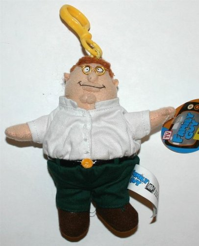 Family Guy Peter Griffin Plush Toy Clip-On - 5 inches - Collectible]()