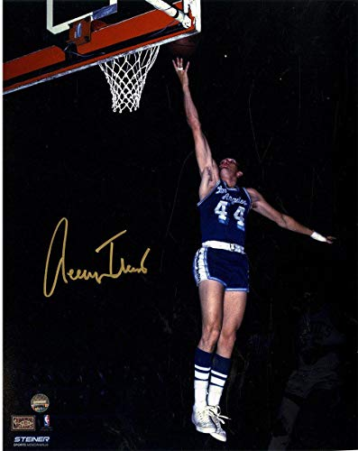 Jerry West Signed Los Angeles Lakers Blue Jersey 8x10 Photo - Steiner Sports Certified - Autographed NBA Photos
