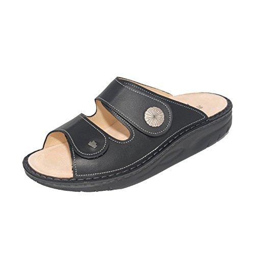 Finn Comfort Finnamic - Zuecos de Piel para mujer negro Schwarz Nappa Seda 2f0c12710c72