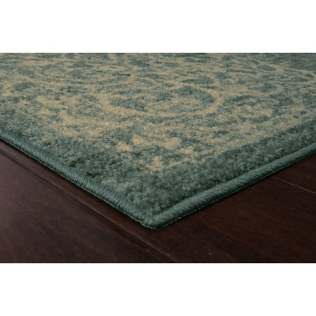 Mainstays India Textured Print Area Rug or Runner Collection, Light Spa, 1'8''x2'10'' by Mainstay (Image #2)