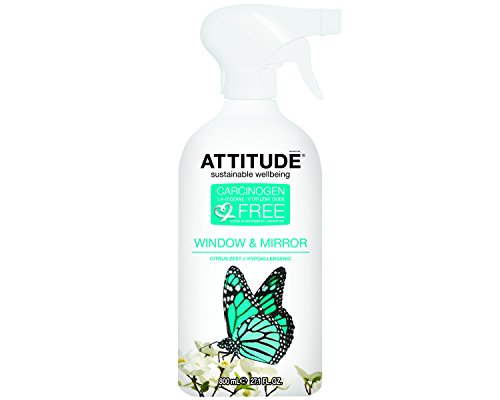 Attitude Window & Mirror Cleaner, 27.1-Ounce Bottles (Pack of 6) by Attitude