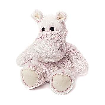 Warmies Peluche de hipopótamo, Juguete Suave, Puedes meterlo en el microondas