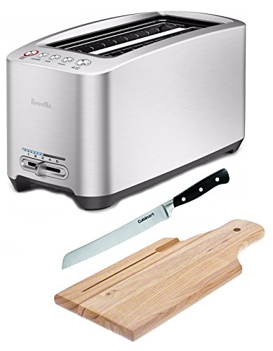 Breville Die-Cast 4-Slice Toaster with 8 inch bread knife and Bread Board (Toaster Breville 4 Slice)