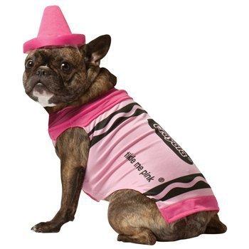 Make A Crayon Costume - Crayola Crayon Pet Costume (Pink) Size X-Small