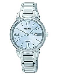 Seiko Solar Silver Dial Stainless Steel Ladies Watch SUT323