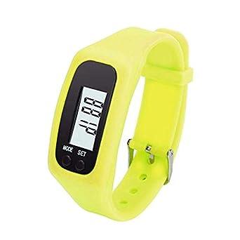 Pulsera de podómetro, 1pcs Abs y Reloj de Gel de sílice con LCD ...
