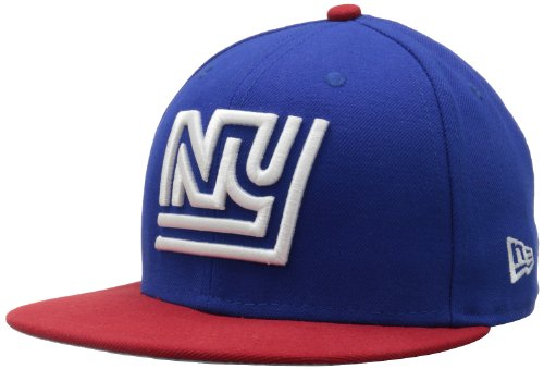 (NFL New York Giants Historic Logo 59Fifty Fitted Cap, Blue/Red, 7 1/8)