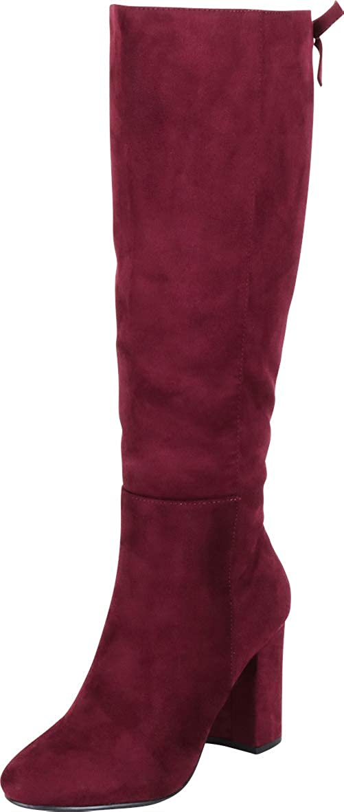Vino Imsu Cambridge Select Women's Back Lace Chunky Block Heel Knee-High Boot