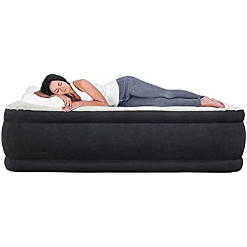serta raised queen air mattress with never flat pump sports outdoors. Black Bedroom Furniture Sets. Home Design Ideas