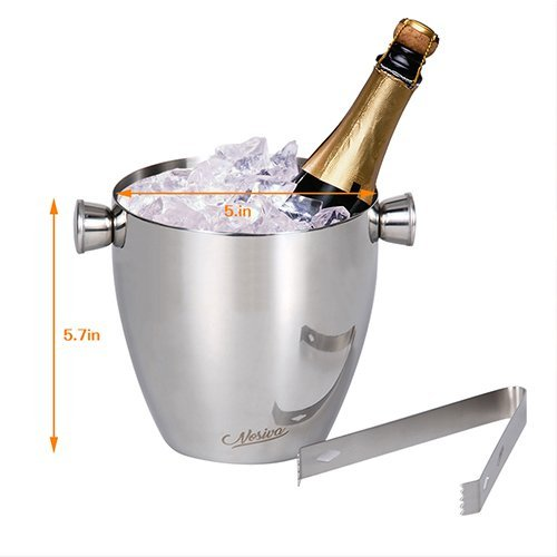 Bar Set, 17 Pieces Bartender Kit Cocktail Bar Set Stainless Steel Cocktail Set includes 24oz Martini Cocktail Shaker, 50oz Ice Bucket, Double Size Jiggers and other Essential Bartending Bar Tools by Nosiva (Image #4)