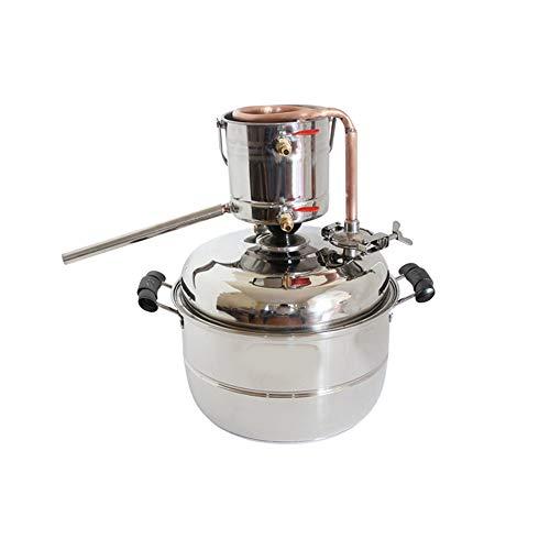 Nieuwe DIY 10L Alcohol Distiller Thuis Brouwen Kit RVS & Koper Koeling Thuis Wijn Maken Moonshine Still Water…