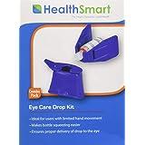 HealthSmart Eye Drop Guide Delivery Kit, Fits Most Eye Drop Bottles, Blue
