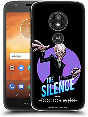 Official Doctor Who The Silence Classic Villains Hard Back Case for Motorola Moto E5 Play