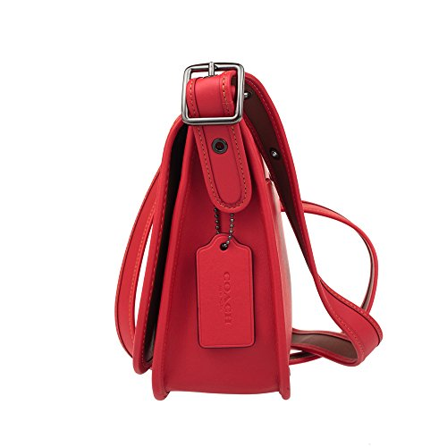 COACH Patricia 23 Saddle MICKEY Red Glove Mickey in with Bright Leather Calf rUHwr5q