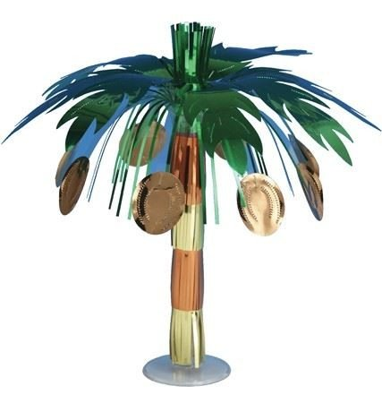 Creative Converting 6-Count Mini Foil Centerpieces, Luau Coconut Tree