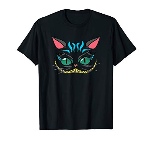 Funny Grin Cheshire Faced Cat T-Shirt Men Women Kids 2017 -