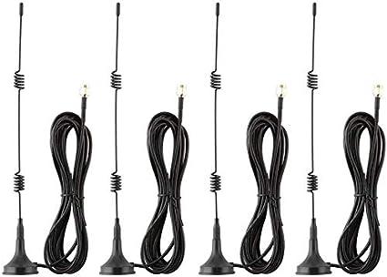 Tonton Antena de base magnética de 7 dBi, de alto rendimiento, WiFi, amplificador de señal para cámara IP, receptor de red, cable de 3 m, antena ...